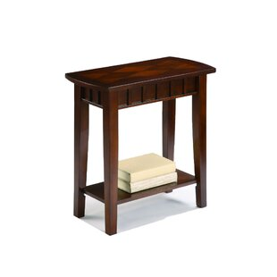 Crowell Wooden End Table with Storage