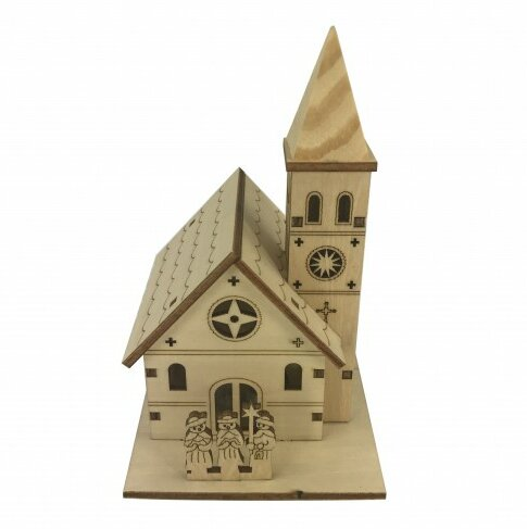The Holiday Aisle 100 Plywood Small House With Lights Wayfair