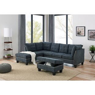 Ebern Designs Hodapp Sectional with Ottoman