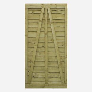 3' X 6' (0.91m X 1.83m) Wood Gate By Sol 72 Outdoor