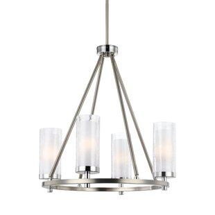 Brayden Studio Mikolas 4-Light Shaded Chandelier