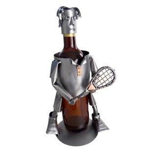 Tennis Male 1 Bottle Tabletop Wine Rack by H & K SCULPTURES