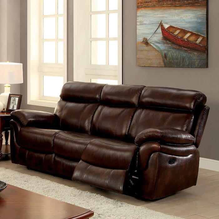 Caswell Leather Reclining Sofa