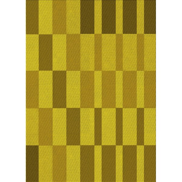 East Urban Home Simonds Geometric Wool Yellow Green Area Rug Wayfair