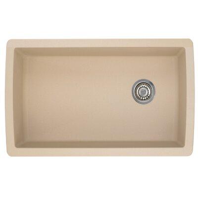 Blanco Diamond 33.5 L x 18.5 W Undermount Kitchen Sink Color: Biscotti