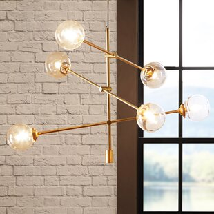 Langley Street Bensley Antique 6-Light Chandelier