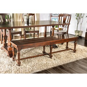 Nunnally Wood Bench by Three Posts