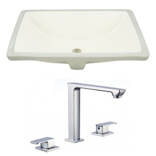 Top Reviews Ceramic Rectangular Undermount Bathroom Sink with Faucet and Overflow ByRoyal Purple Bath Kitchen