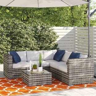 Oryana 4 Seater Rattan Corner Sofa Set Image