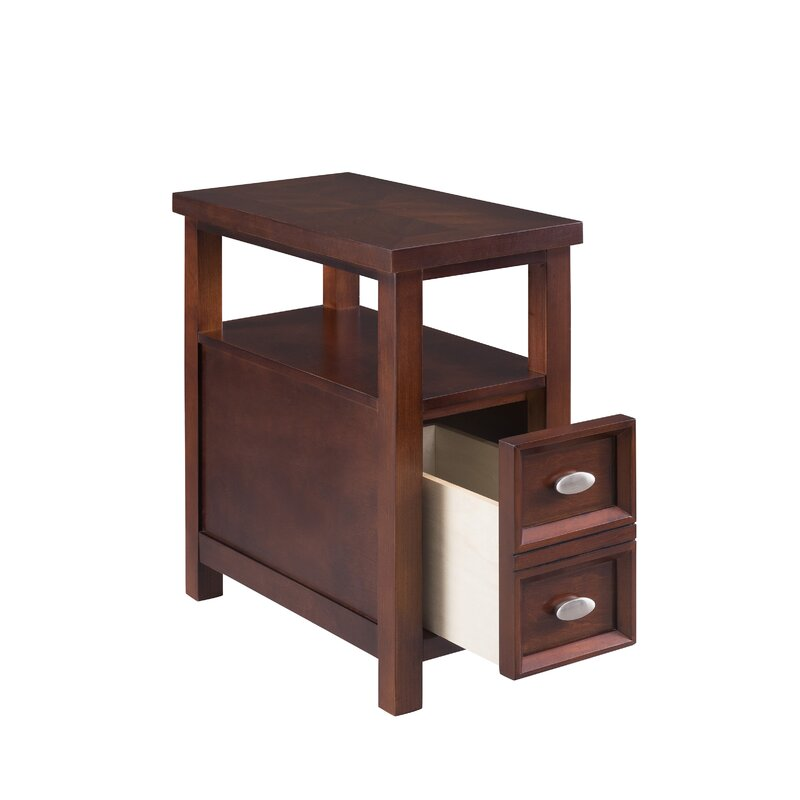 Alude End Table With Storage