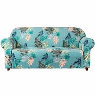 Stretch Leaf Printed Sofa Slipcovers By Bay Isle Home