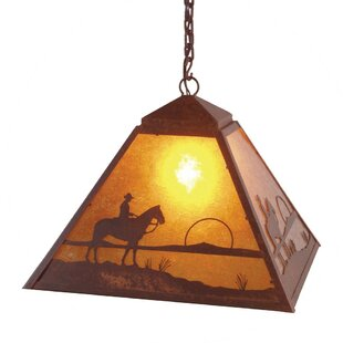 Steel Partners Cowboy Sunset 1-Light Dome Pendant
