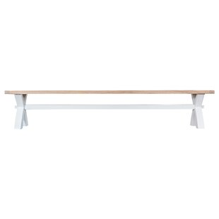 Buckley Large Cross Wood Bench By Beachcrest Home