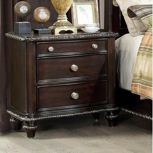 Gasper 3 Drawer Nightstand