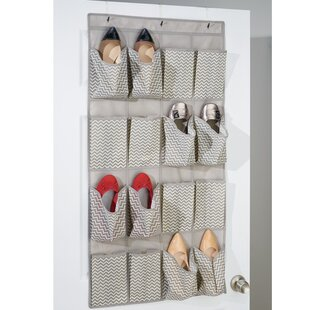 Reviews 16-Pocket 8 Pair Overdoor Shoe Organizer By Rebrilliant