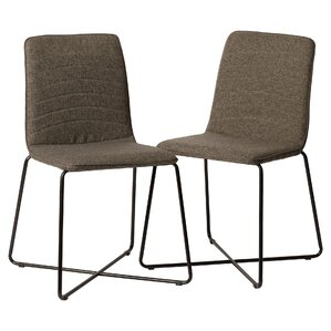 Linen Upholstered Parsons Chair (Set of 2) by Mercury Row
