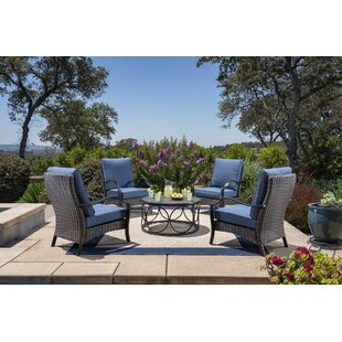 Bloomsbury Market Mariann 5 Piece Seating Set with Cushions