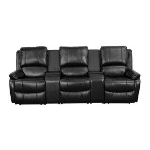 Ebern Designs Pillow Top 3-Seat Home Theater Sofa