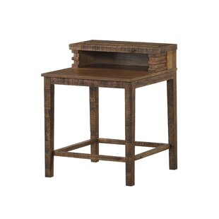 Tennyson Open Compartment Wooden End Table by Millwood Pines