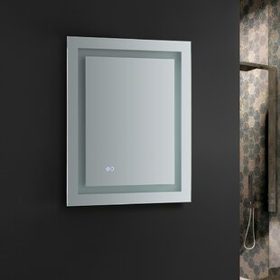 Lighted dressing room mirror wayfair santo bathroom mirror with led lighting and defogger aloadofball Gallery