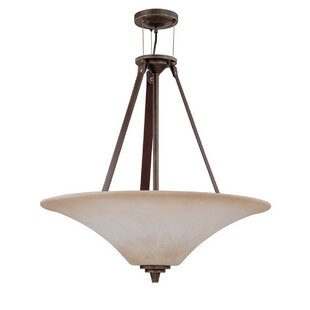 Loon Peak Dore 4-Light LED Bowl Pendant
