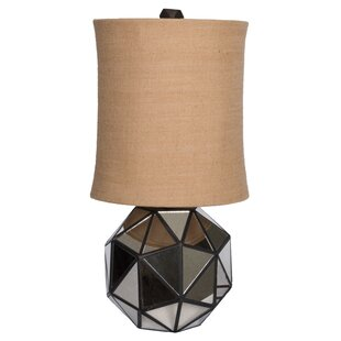 Faceted Aged Mirror 30 Table Lamp