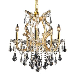 House of Hampton Regina Traditional 6-Light Candle Style Chandelier