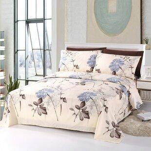 Ruben Eco Friendly Comfortable Floral Rayon Sheet Set