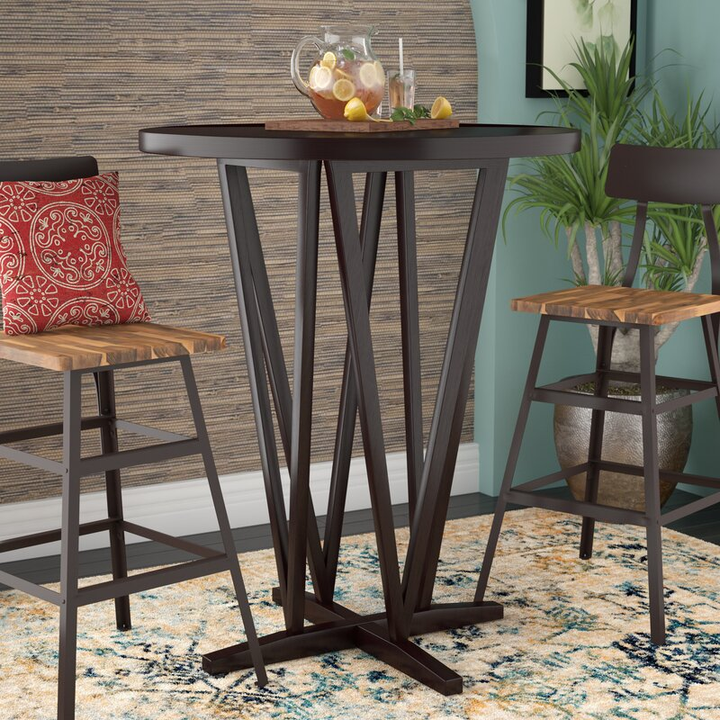 White Cane Outdoor Furniture, World Menagerie Frahm Bar Height Dining Table Reviews Wayfair