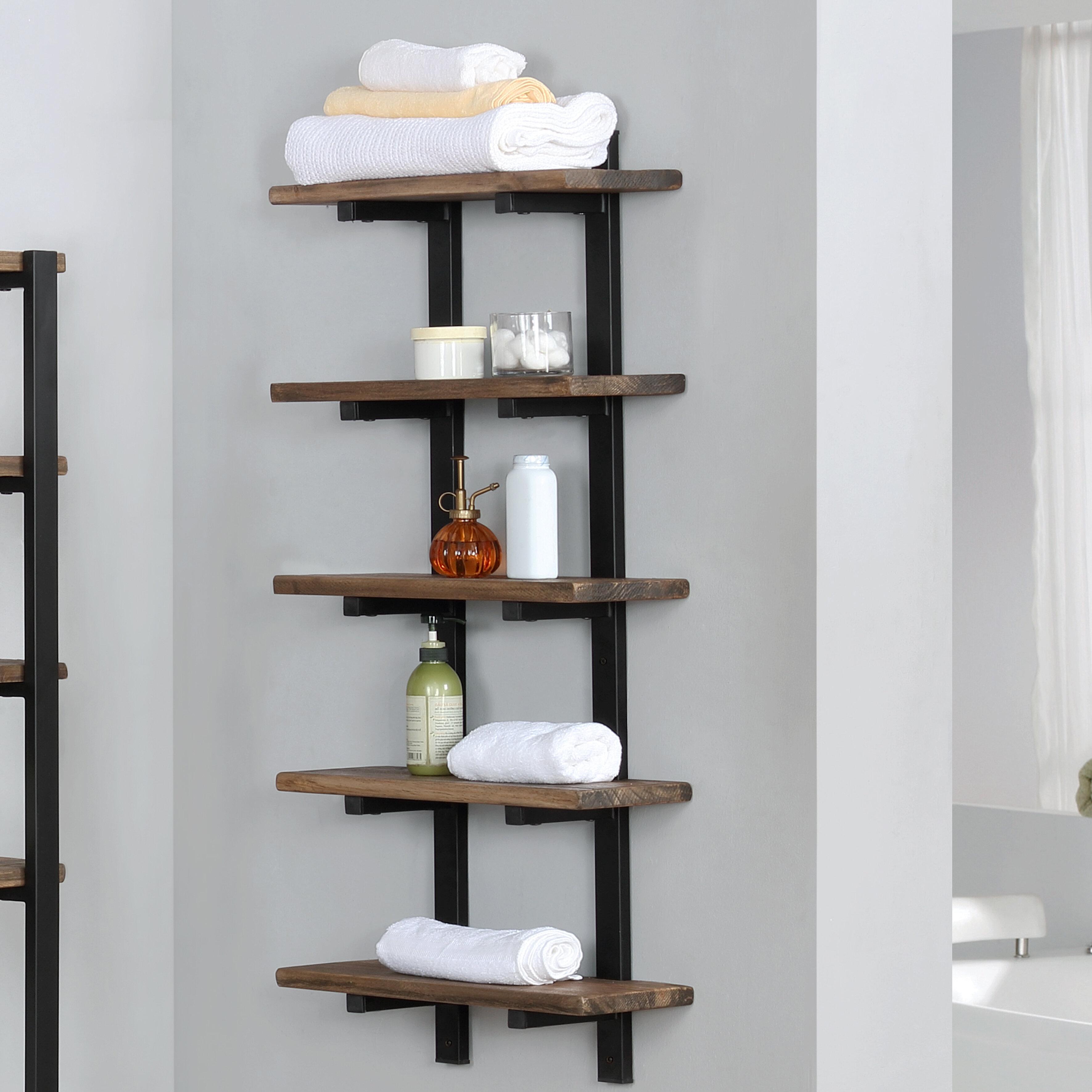 Trent Austin Design Steadman 20 W X 48 H X 8 D Wall Mounted Bathroom Shelves Reviews Wayfair