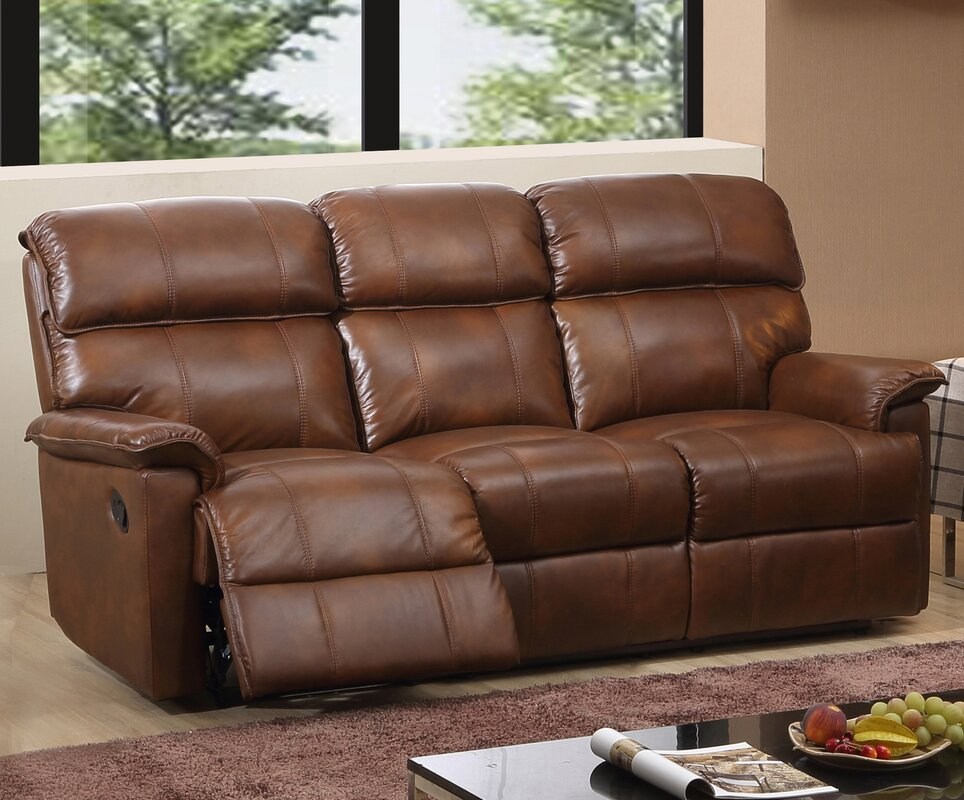 Solenson II Leather 3 Seater Reclining Sofa & Hyde Line Furniture Solenson II Leather 3 Seater Reclining Sofa ... islam-shia.org