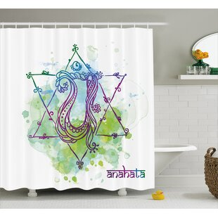 Phelps Chakra Indian Occult Sign With Distressed Trippy Blowing Healing Soul Mystic Energy Zen Shower Curtain