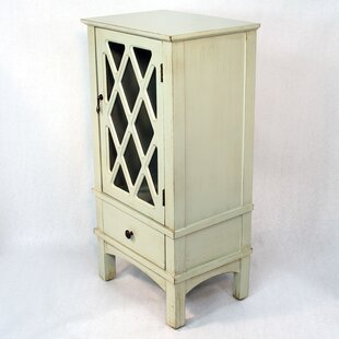 Keesey Wooden Accent Cabinet with Glass Insert