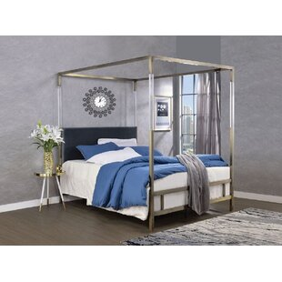 Sherwin Queen Upholstered Canopy Bed