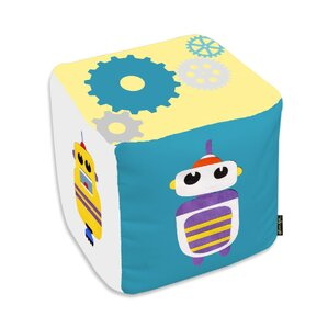 Jazlyn Robots Everywhere Ottoman by Zoomie Kids