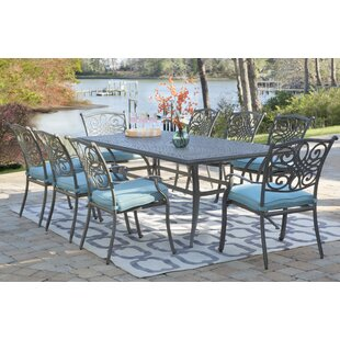 Charlton Home Wyton 9 Piece Dining Set with Cushion