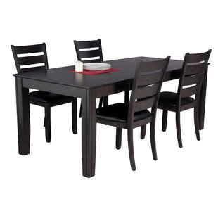Avangeline 5 Piece Dining Set with Rectan..