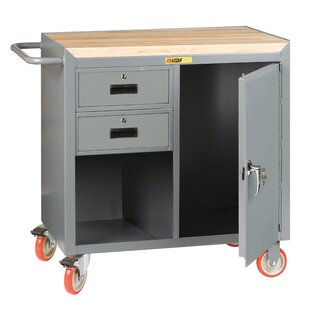 Mobile Service 42W Butcher Block Top Workbench by Little Giant USA