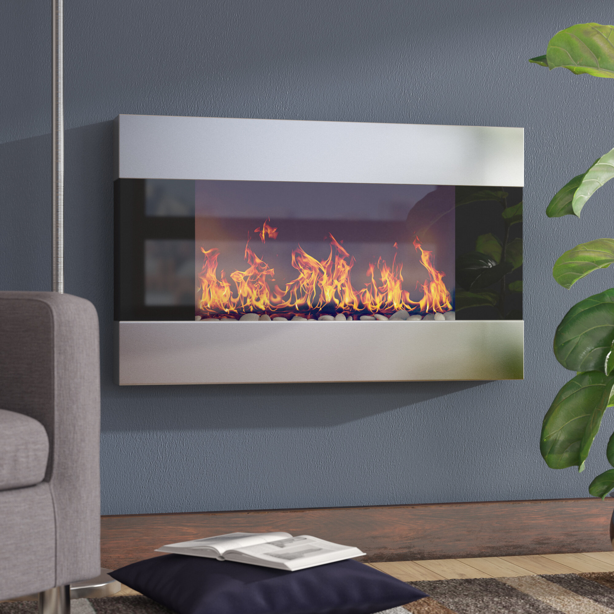 Awesome Wall Unit With Fireplace Wayfair Interior Design Ideas Greaswefileorg