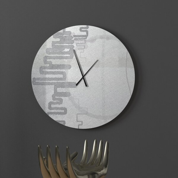 Latitude Run Smart Jolly Abstract Metal Wall Clock Wayfair
