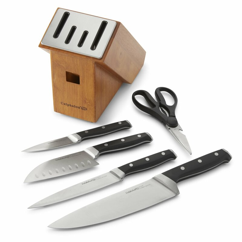 calphalon classic sharpin 6 piece self sharpening knife set rh wayfair com self sharpening knives set best self sharpening kitchen knives