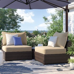 Dante Patio Chair with Cushions (Set of 2)