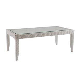 David Francis Furniture Mykonos Wicker Rattan Coffee Table