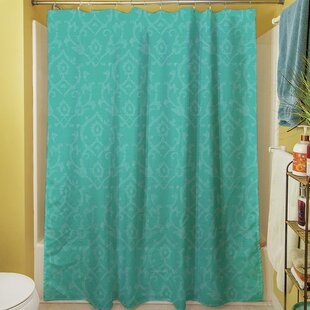 Flowing Damask Single Shower Curtain