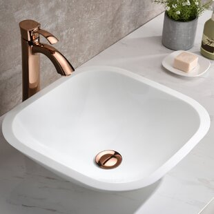 ANZZI Egret Series Glass Square Vessel Bathroom Sink