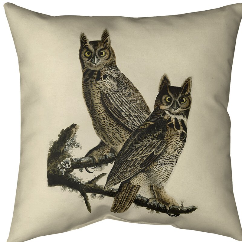 East Urban Home Great Horned Owl Throw Pillow Cover Wayfair