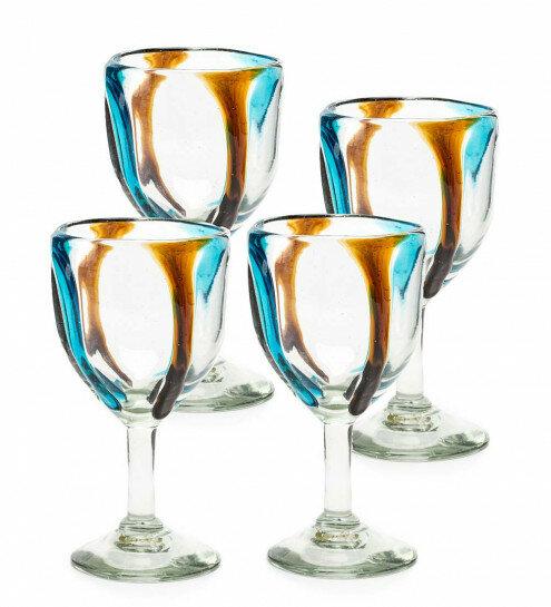 Chronister Satori Stripe 8 oz  Glass Goblet
