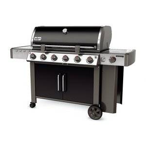 Genesis II LX E-640 6-Burner Propane Gas Grill with Side Shelves
