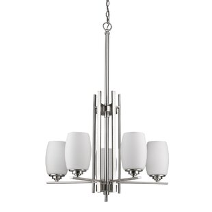 Winston Porter Vanfleet 5-Light Shaded Chandelier