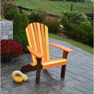 August Grove Carignan Fanback Plastic Adirondack Chair